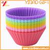 Draag het Kleurrijke Silicone Op hoge temperatuur Bakeware van de Vorm van de Cake van het Silicone (yB-kb-5)