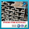 Profil en aluminium d'aluminium de la vente directe 6063 d'usine pour des forces de défense principale de Slatwall de garniture intérieure