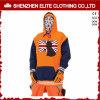 De in het groot Organische Modieuze Oranje Zwarte Mensen passen Sweatshirts Hoodie aan (elthsj-982)