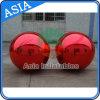 Almofada insuflável Espelho Vermelho Balão, esferas de aço inoxidável inflável para publicidade