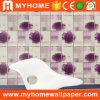 Papel de empapelar casero del vinilo 3D del PVC de la decoración floral con impermeable