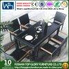 藤表および椅子のセットされるか、または屋外のダイニングテーブルはセットした(TG-1035)