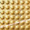 Mosaico misto di Electropalte della stagnola di oro (AT4808)