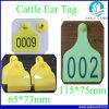 Tag de orelha do gado dos carneiros da impressão do número do laser para a gerência animal