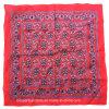 Печати логоса продукции OEM фабрики Китая пестрый платок Headwrap хлопка Paisley изготовленный на заказ красный
