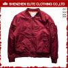Подгонянная модная куртка полета Burgandy дешево (ELTWBJI-11)