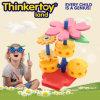 Brinquedos educacionais internos do modelo da flor do jogo macio do jardim de infância