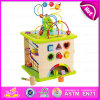 2015 migliore Sale Wooden Intelligent Toy per Kids, 5 in 1 Intelligent Playing Cube, Wooden Knocking Geometric Shape Block Toy W12D026