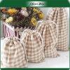Sacco personalizzato promozionale del sacchetto di Jewelty della tela di canapa del cotone di disegno