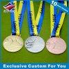 Medaglia olimpica su ordinazione poco costosa del metallo con il nastro