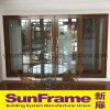 Алюминиевая деревянная раздвижная дверь текстуры