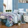 ジャカードは多綿織物の羽毛布団カバーシーツの寝具セットを印刷した