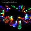 Multicolorful Birnen-Kugel-Laterne-Lampen-Licht 2019 der Bodenwand-Solarzeichenkette-Streifen-Dekoration-LED
