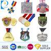 Free Design Logo personnalisé bon marché de gros de l'émail doux ronde en alliage de zinc 3D'Or Race Course Marathon de Boxe Sports Award médaille de métal de souvenirs avec du ruban de cou