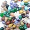 La ágata cristalina de la piedra del color de la gota mezclada natural del agua encanta los colgantes