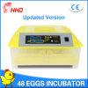 Incubadora automática popular do ovo da galinha de Hhd para a venda (YZ8-48)