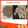 99.99 Tio de haute pureté granule de frittage/tablette de monoxyde de titane pour revêtement optique/Tio pilier matériel chimique
