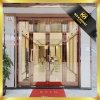 Hairlin Ende-Edelstahl-Rahmen-Glas-Tür