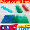 het meer-Blauw van 6mm Uitstekende kwaliteit voor het Blad van Polycarbnate van de tweeling-Muur Rooflights