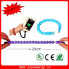 Câble usb portable coloré de micro de talon de bracelet de qualité de mode