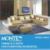 U de couro moderno conjunto de sofá de canto