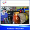 300-3000mm la ronda de plasma CNC máquina de ranura de la Corte del tubo de tipo portátil