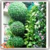 De groene Bal van het Gazon van het Bukshout van de Bal van het Ornament M van de Muur Blauwe Kunstmatige