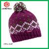 Pearl Beanie диких ягод розового цвета Ski головные уборы женщин (КПЕС-1145)
