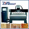 Máquina de grabado de madera del CNC de la relevación con 6 pistas