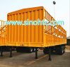 60 toneladas de ganado vacuno trailer, trailer de la utilidad de carga a granel