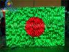 屋外の装飾220V/110V LEDのモチーフライトのためのバングラデシュの国旗