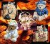 Caixa de dinheiro do gato de APolyresin, banco de economia Piggy e sensor de BoxBS da moeda do urso (HFQ0424)