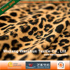 Leopard Impreso Terciopelo Tejido de poliéster para Traje Vestido