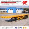 Tri remorque personnalisée par Ejes De 2*20FT et 40FT de bâti plat de transporteur de conteneur de vente chaude