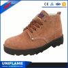 Ботинки безопасности рабочих классов людей дешевые красные кожаный