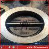 Válvula de verificação do balanço da placa dobro de Albronze C95800