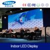 Pantalla de visualización de interior video de LED de la pared P7.62 de la alta calidad