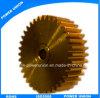 Messing CNC-maschinell bearbeitenübertragungs-Getriebe-Fahrwerk