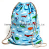 Promocional Custom Printed Kids Cotton Canvas Drawstring Back Pack