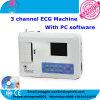 3 canaux Machine électrocardiographe 12 dérivations ECG de l'électrocardiogramme