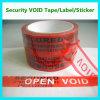 Veiligheid die Nietige Band inpakken; De Markering/de Verbinding/het Etiket van de veiligheid