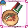 Medalla a medida con el cliente 2D/3D grabado el logotipo de la medalla de deportes