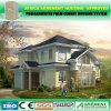 Casa pré-fabricada de construção da construção Prefab clara da casa da casa de campo do frame de aço
