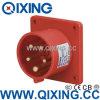 Plugue montado 16A 5p 6h IP44 400V de Qixing painel industrial