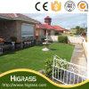 Sintético 30mm Natural Green Grass alfombra por un paisaje de jardín