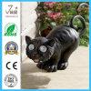 Lumière solaire de chat de jardin en métal pour la décoration
