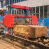 Couper de logarithmes naturels en bois a vu la scierie mobile de scie à ruban de machine