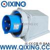 Штепсельная вилка IP67 63A 230V 3p Qixing Cee/IEC поверхностная установленная