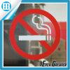 Etiqueta engomada de no fumadores amonestadora de papel roja general de la insignia
