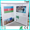 Выдвиженческий рекламируя подарок LCD видео- брошюры видео- чешет поздравительная открытка экрана цифров TFT видео- для маркетинга
